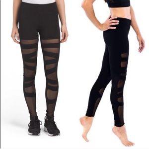 Electric yoga ballerina full length leggings EUC